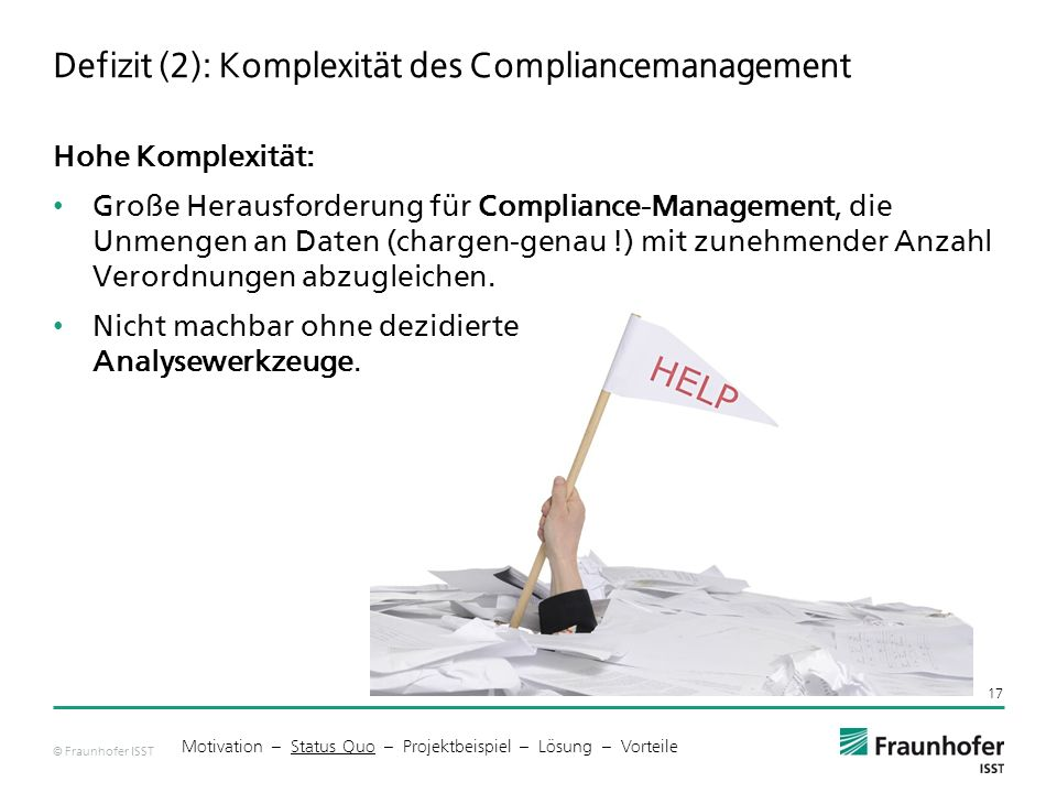 Defizit (2): Komplexität des Compliancemanagement