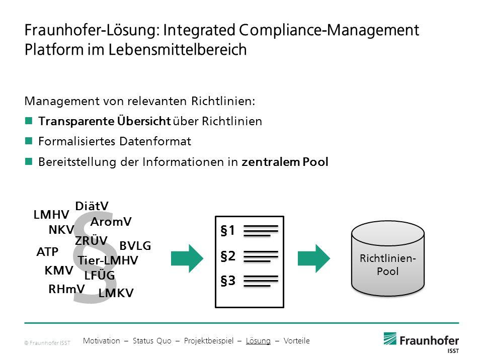 Fraunhofer-Lösung: Integrated Compliance-Management Platform im Lebensmittelbereich