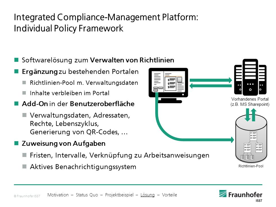 Integrated Compliance-Management Platform: Individual Policy Framework