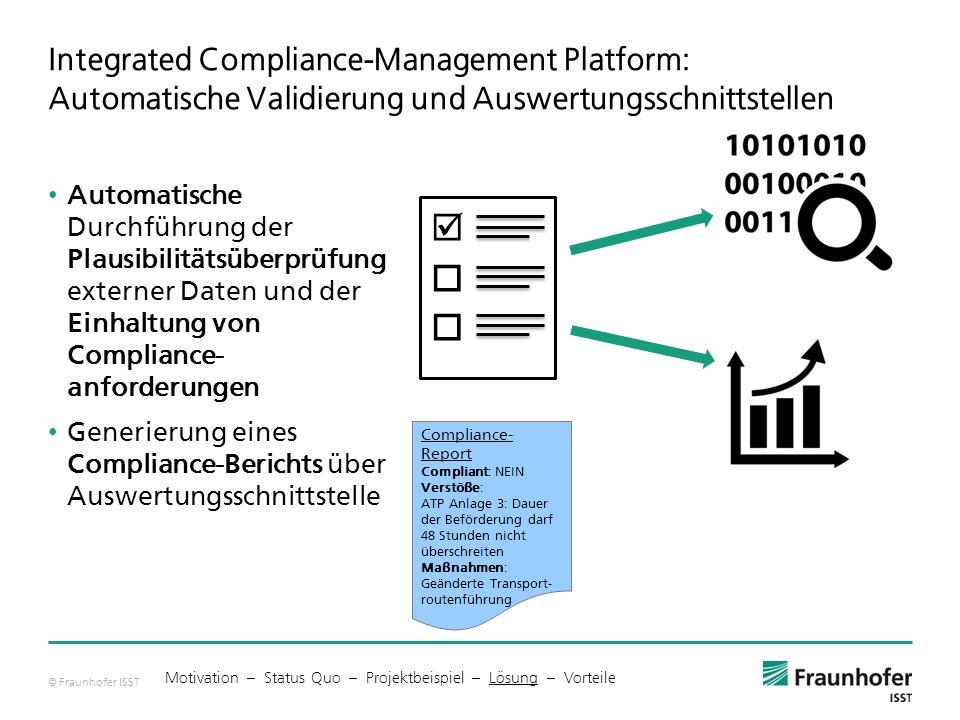 Integrated Compliance-Management Platform: Automatische Validierung und Auswertungsschnittstellen