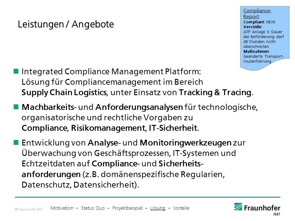 Compliance-Report Compliant: NEIN. Verstöße: ATP Anlage 3: Dauer der Beförderung darf 48 Stunden nicht.