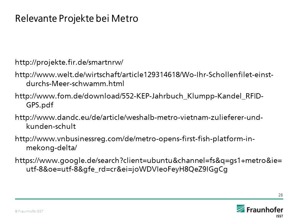 Relevante Projekte bei Metro
