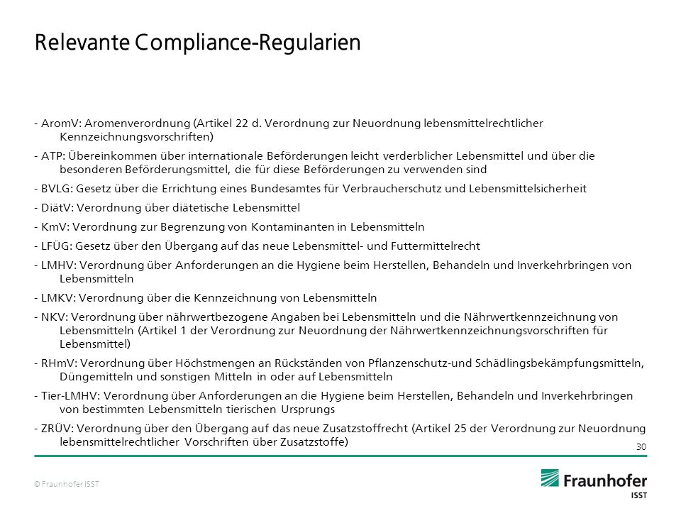 Relevante Compliance-Regularien
