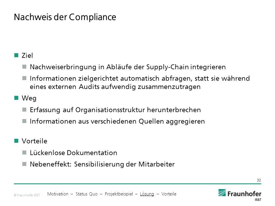 Nachweis der Compliance