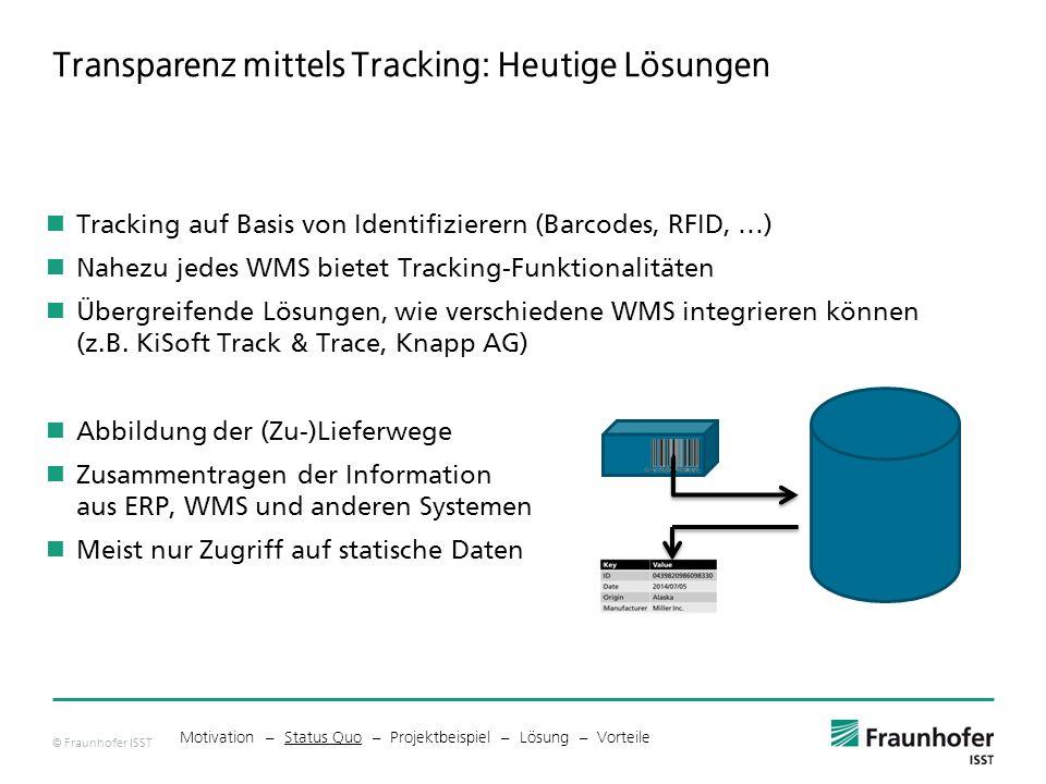 Transparenz mittels Tracking: Heutige Lösungen