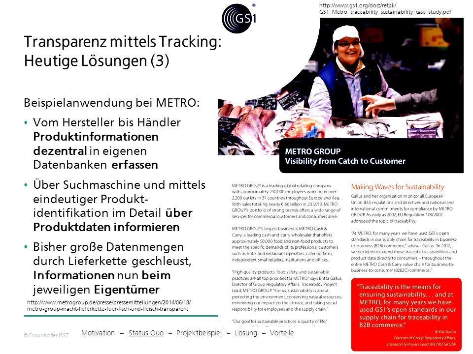 Transparenz mittels Tracking: Heutige Lösungen (3)