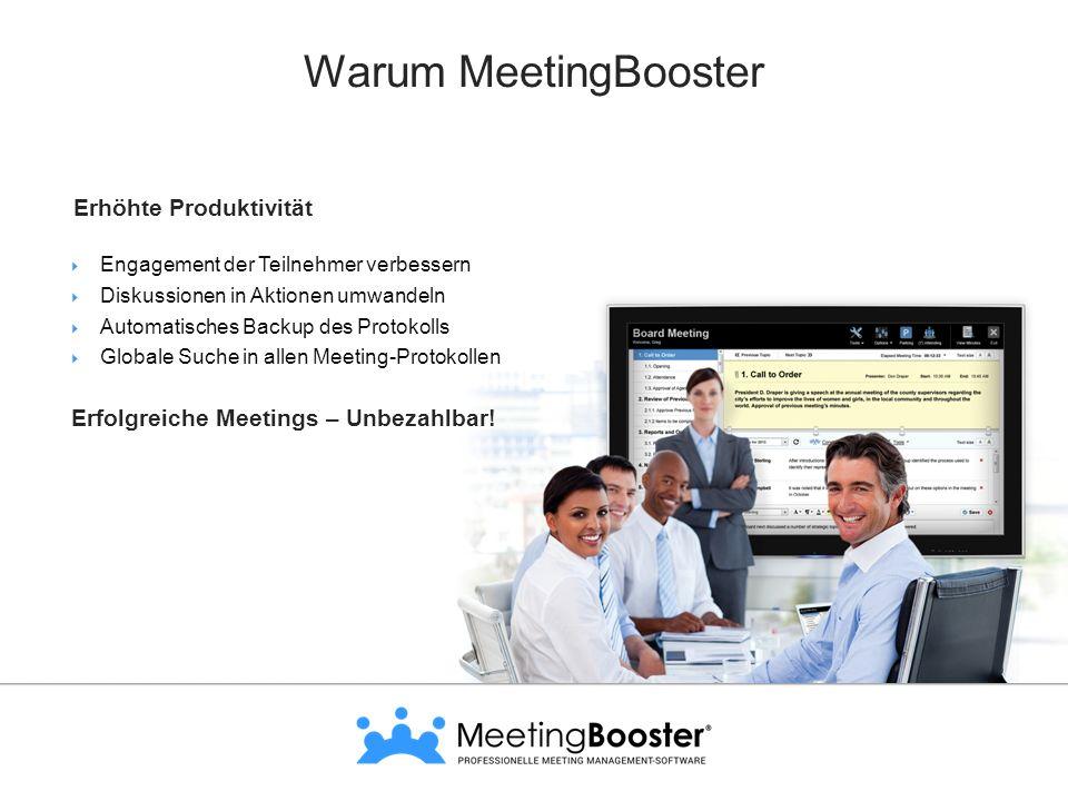 Warum MeetingBooster Erhöhte Produktivität