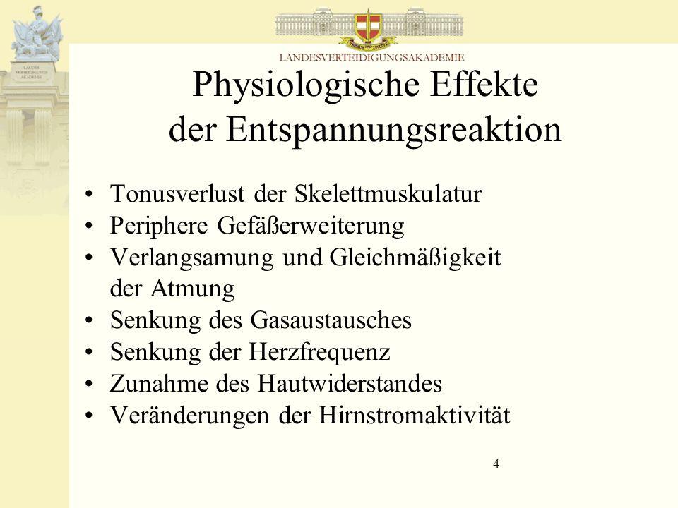 Physiologische Effekte der Entspannungsreaktion