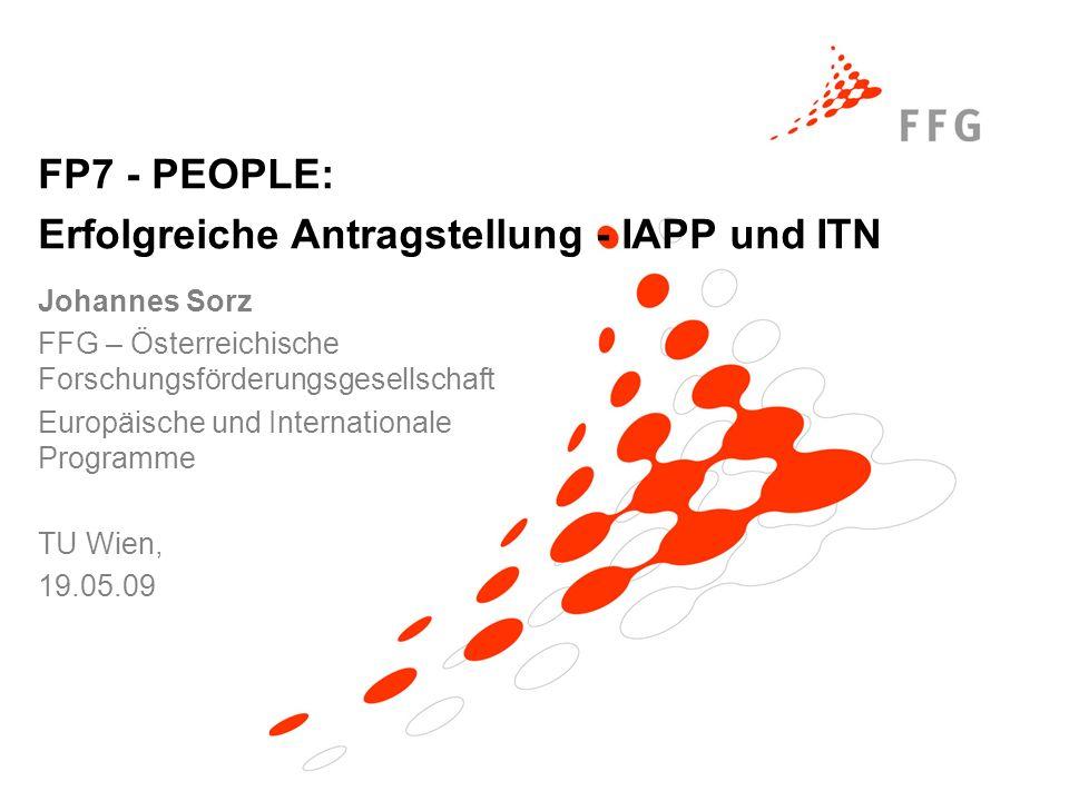 Erfolgreiche Antragstellung - IAPP und ITN