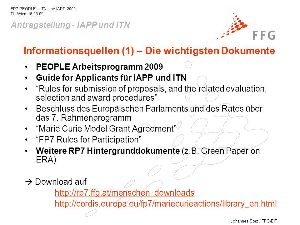 Informationsquellen (1) – Die wichtigsten Dokumente