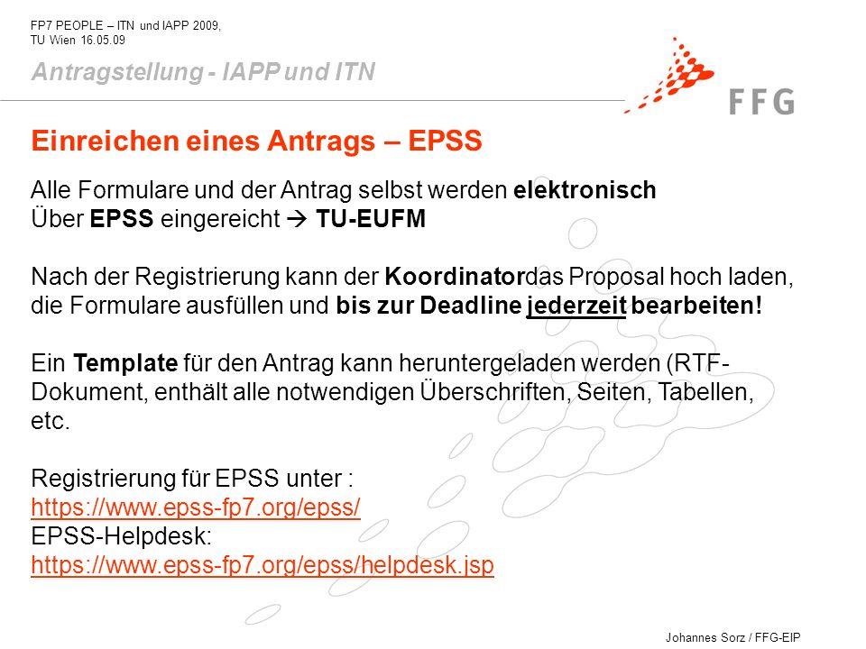 Einreichen eines Antrags – EPSS