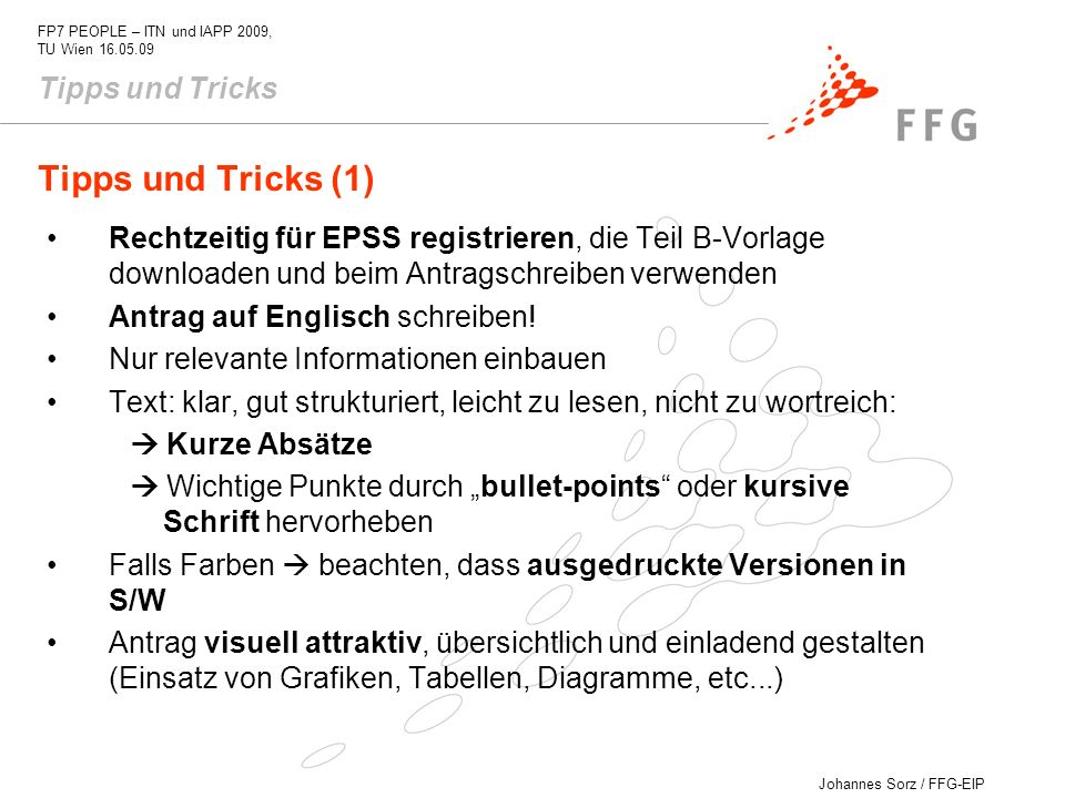 Tipps und Tricks (1) Tipps und Tricks