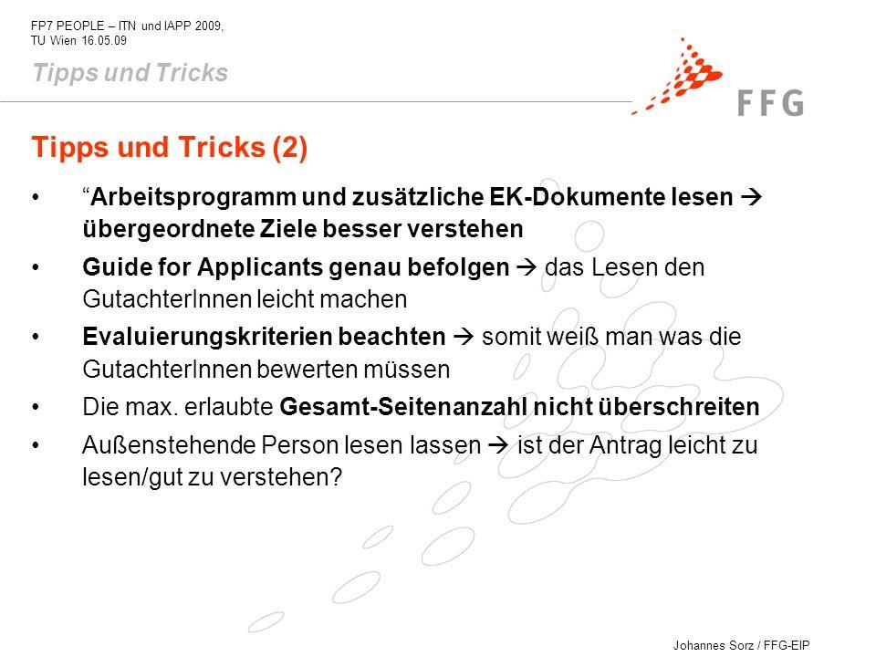 Tipps und Tricks (2) Tipps und Tricks