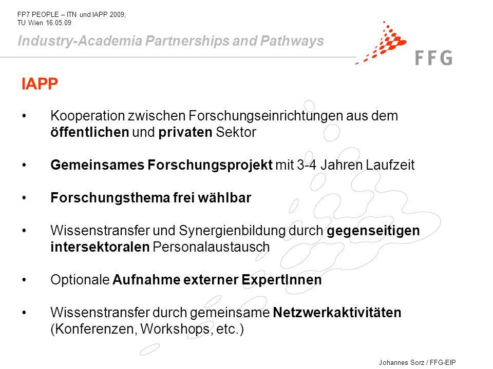 IAPP Industry-Academia Partnerships and Pathways