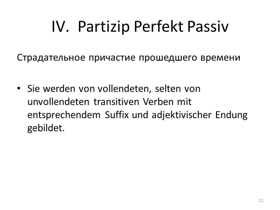 Partizip Perfekt Passiv