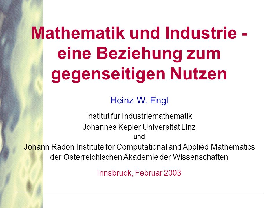 Mathematik und Industrie -
