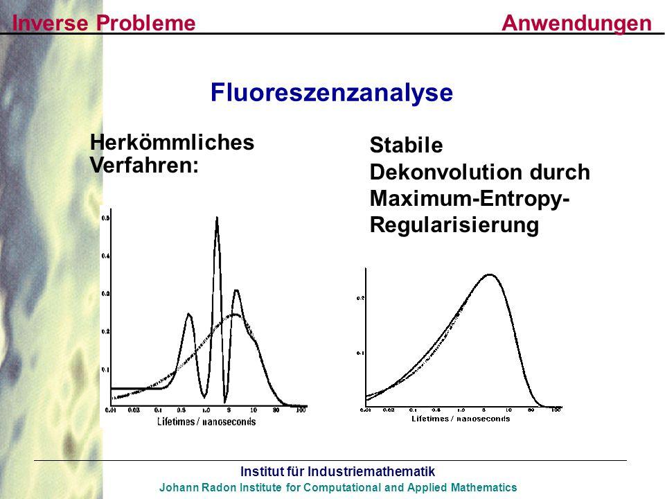 Fluoreszenzanalyse Inverse Probleme Anwendungen Herkömmliches