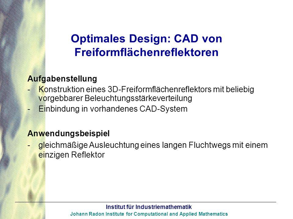 Optimales Design: CAD von Freiformflächenreflektoren