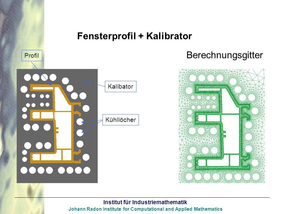Berechnungsgitter Fensterprofil + Kalibrator Profil Kalibator