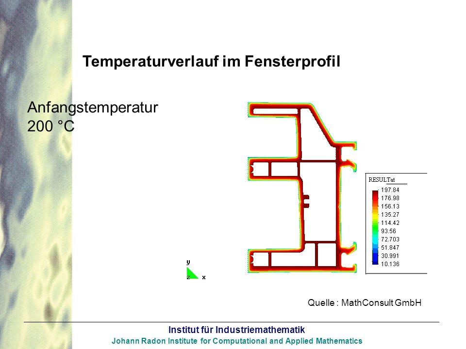 Temperaturverlauf im Fensterprofil