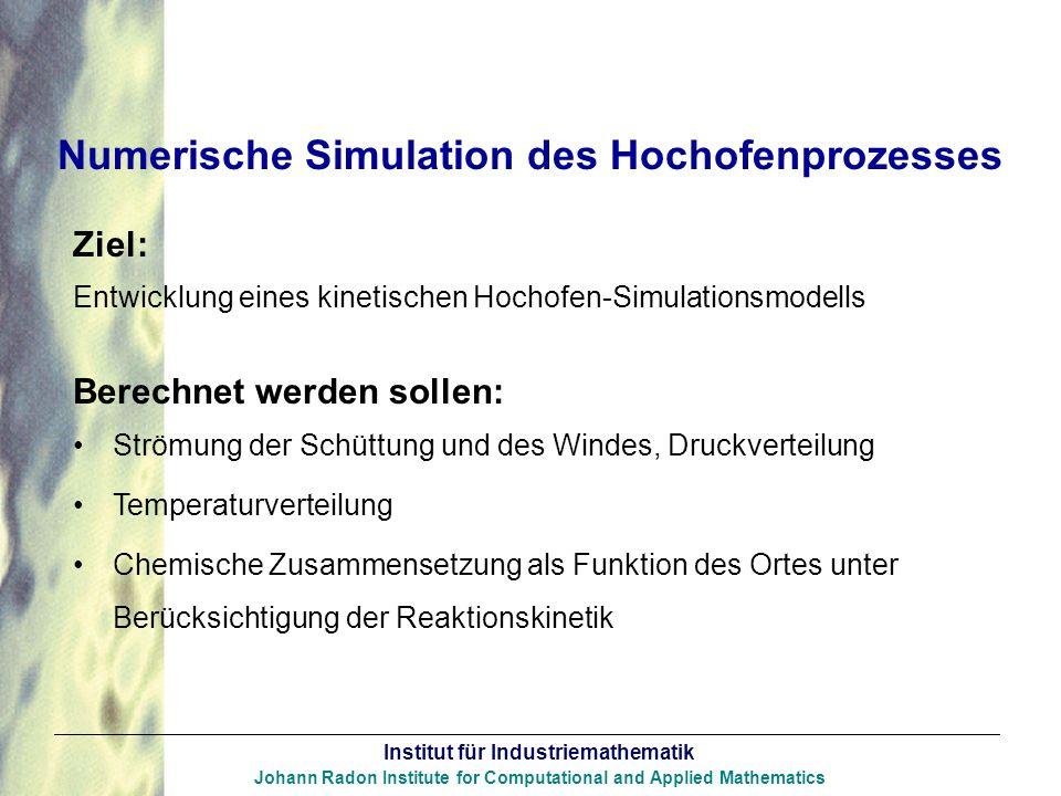 Numerische Simulation des Hochofenprozesses