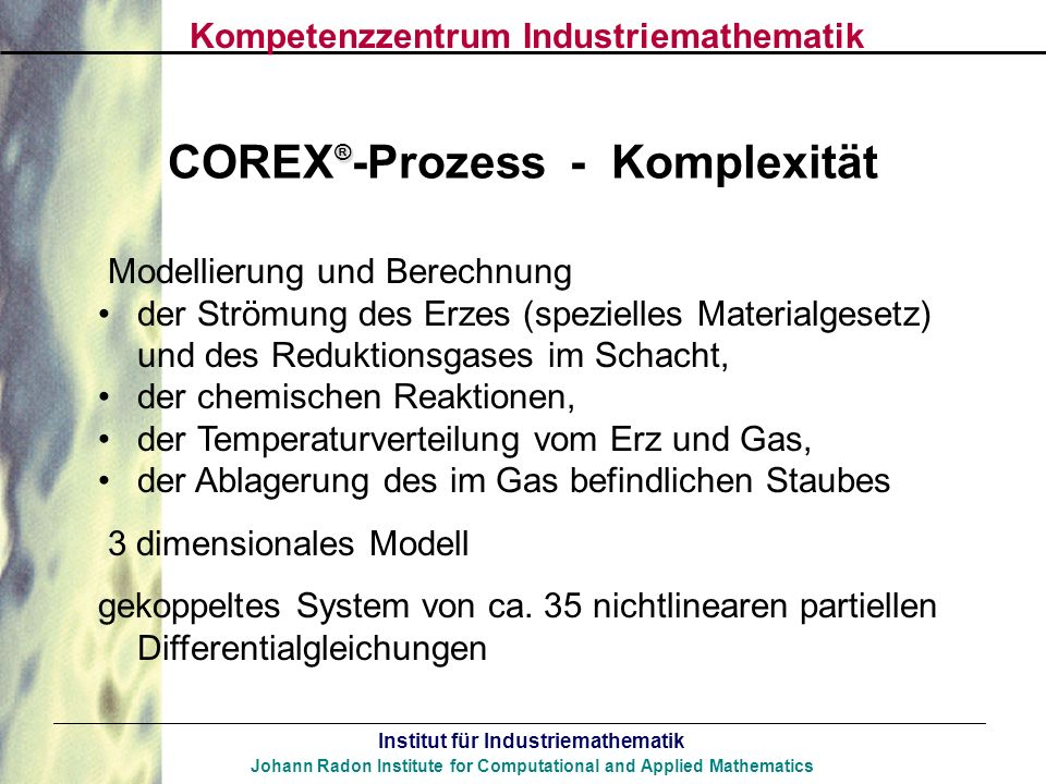 COREX®-Prozess - Komplexität