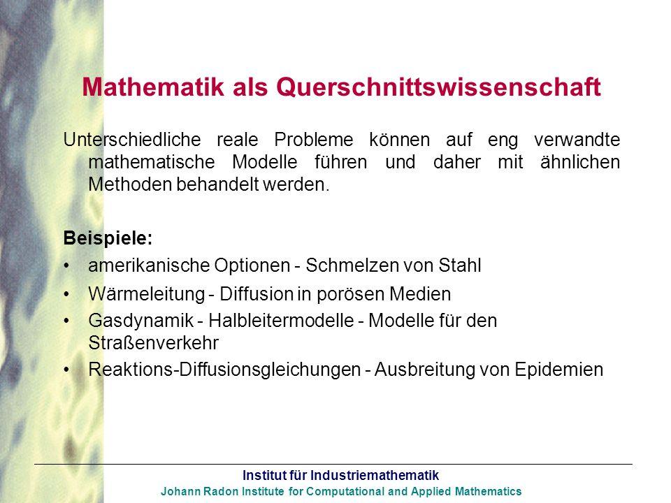 Mathematik als Querschnittswissenschaft