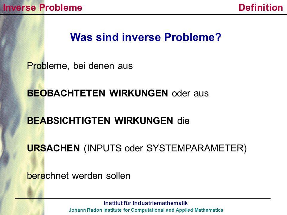 Was sind inverse Probleme