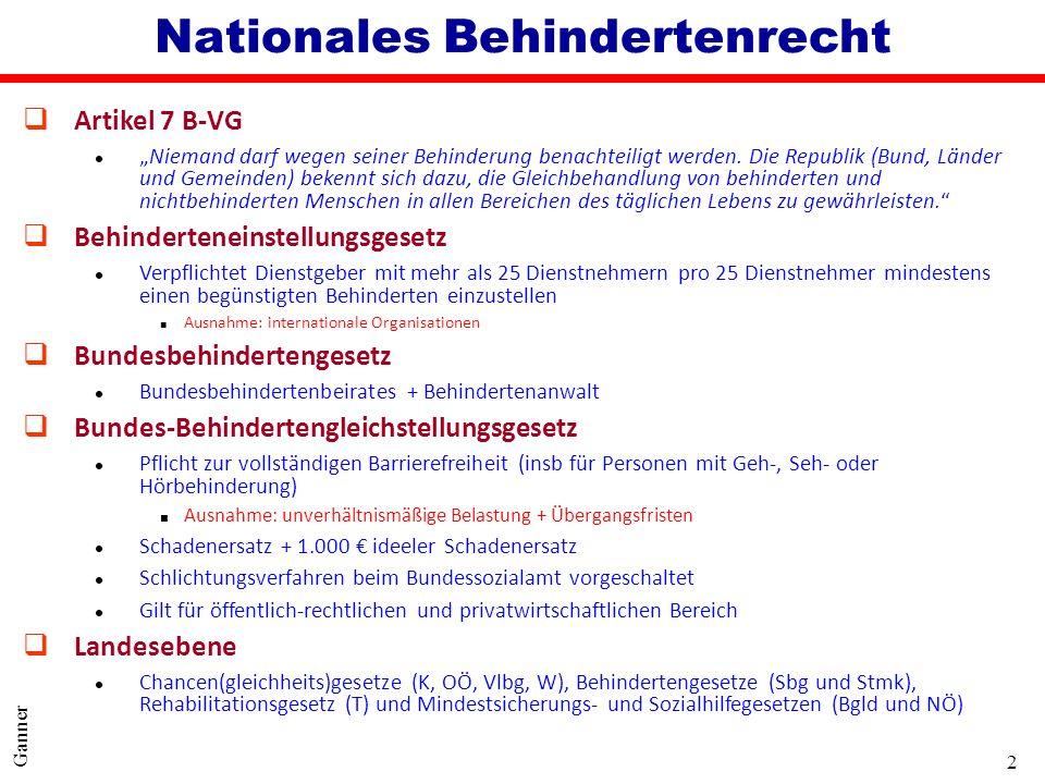 Nationales Behindertenrecht