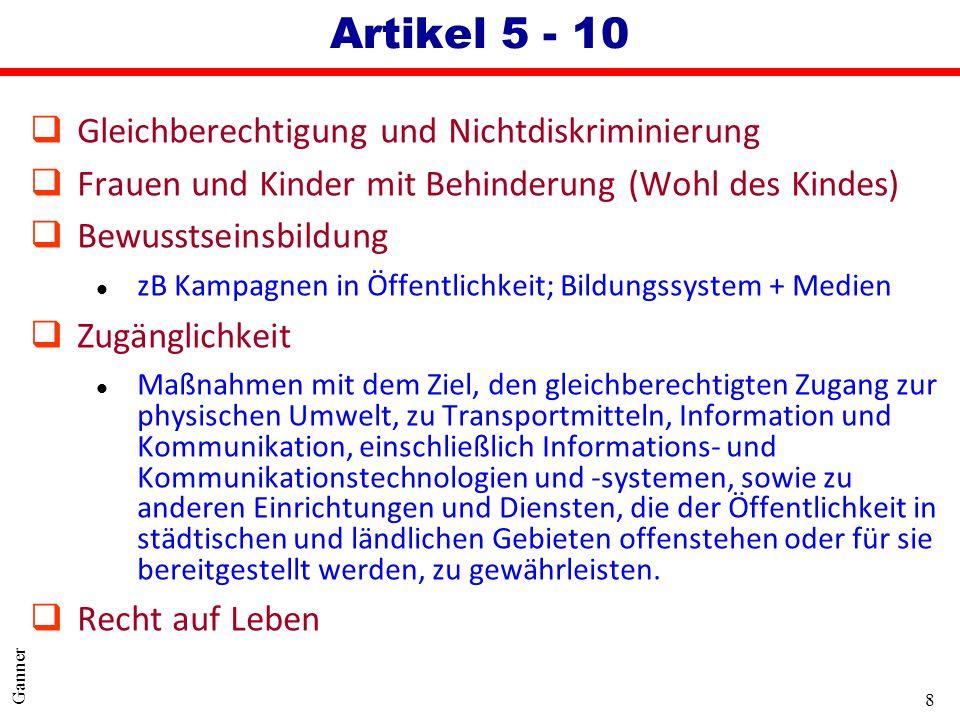 Artikel 5 - 10 Gleichberechtigung und Nichtdiskriminierung