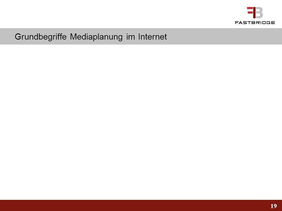 Grundbegriffe Mediaplanung im Internet