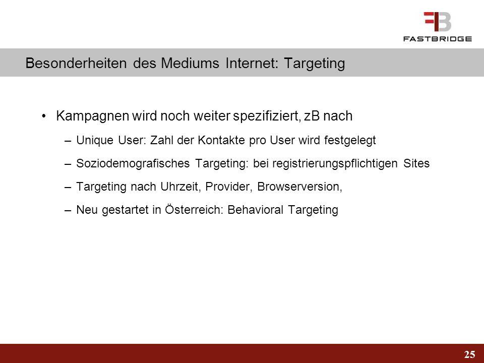 Besonderheiten des Mediums Internet: Targeting