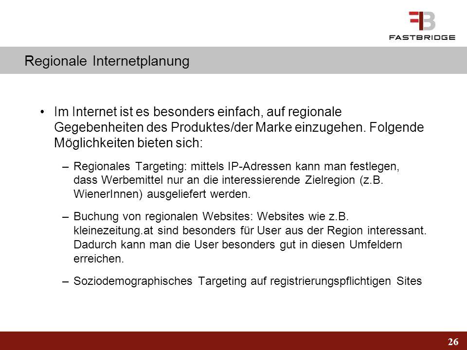 Regionale Internetplanung