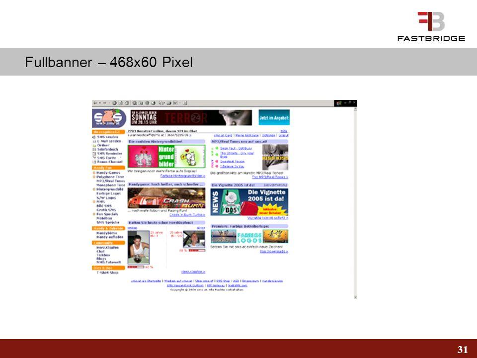 Fullbanner – 468x60 Pixel