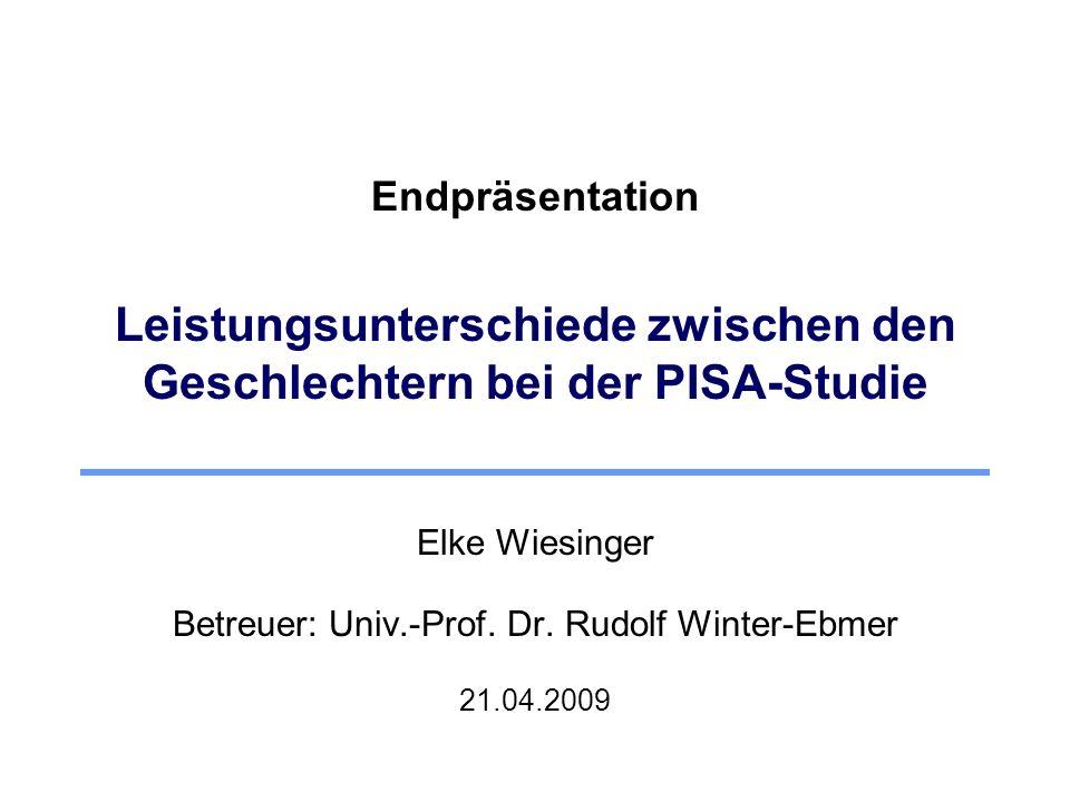 Betreuer: Univ.-Prof. Dr. Rudolf Winter-Ebmer