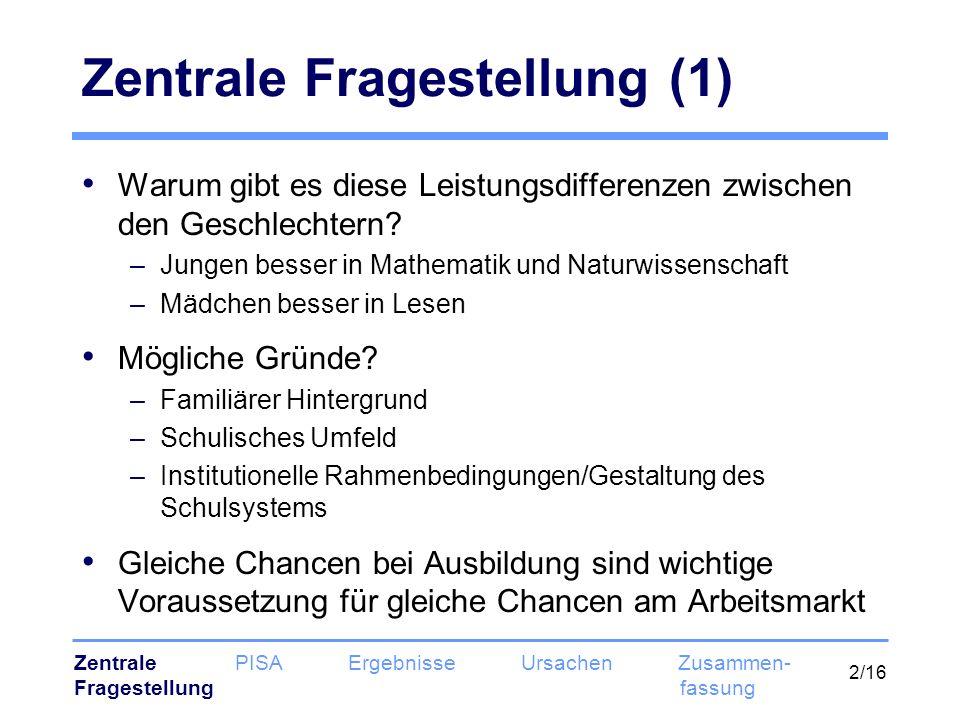 Zentrale Fragestellung (1)