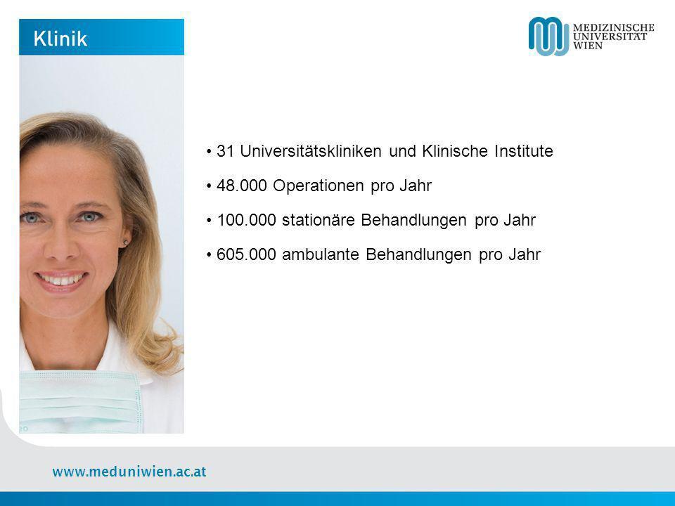 • 31 Universitätskliniken und Klinische Institute • 48