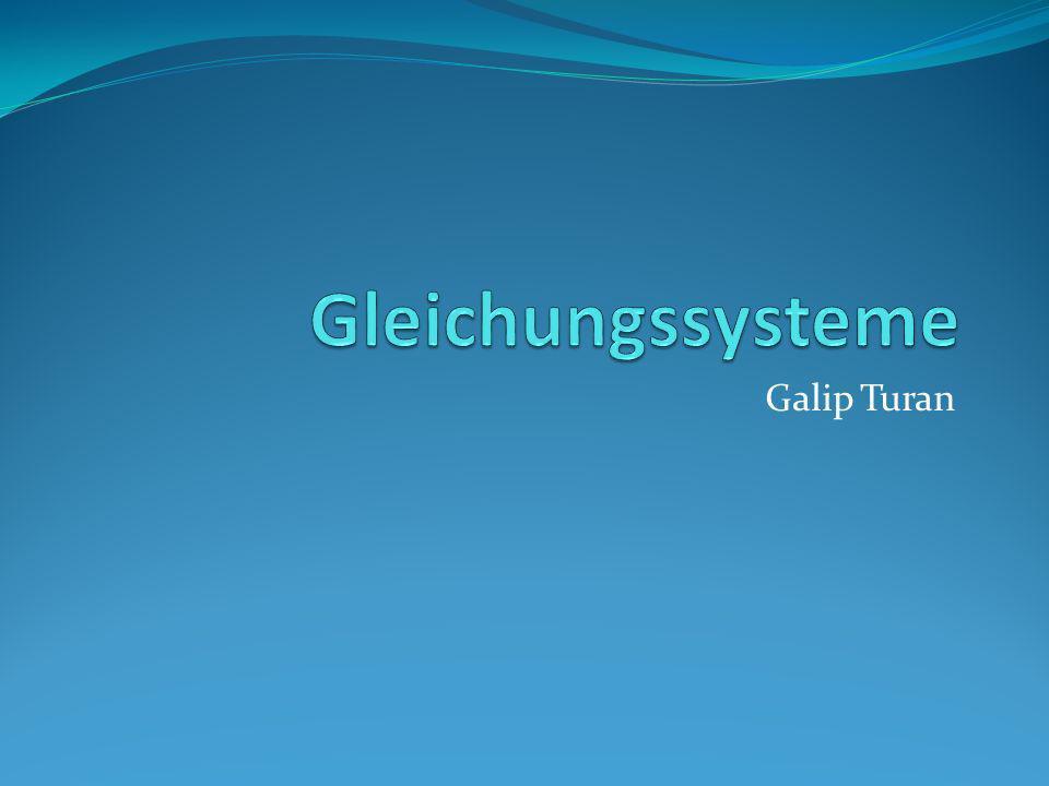 Gleichungssysteme Galip Turan