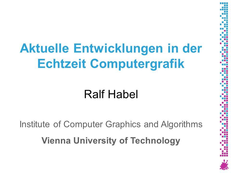Ich Post-Doc am Institut für Computergrafik und Algorithmen, TU Wien