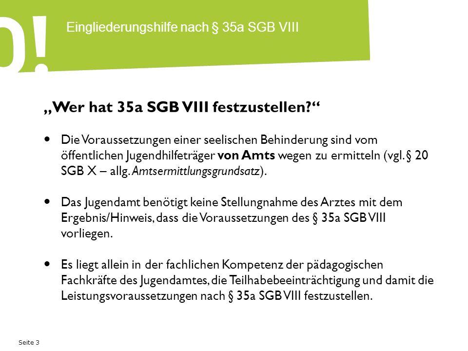 Eingliederungshilfe nach § 35a SGB VIII