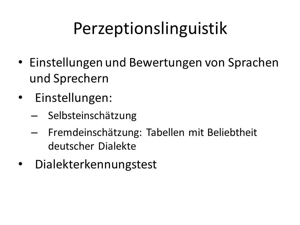 Perzeptionslinguistik