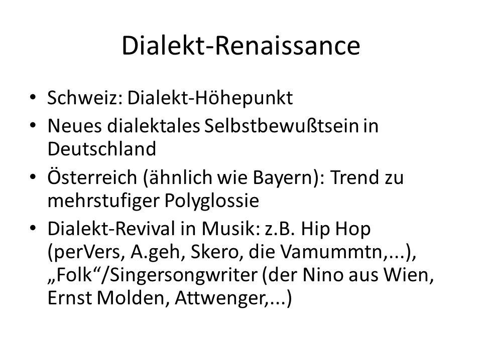 Dialekt-Renaissance Schweiz: Dialekt-Höhepunkt