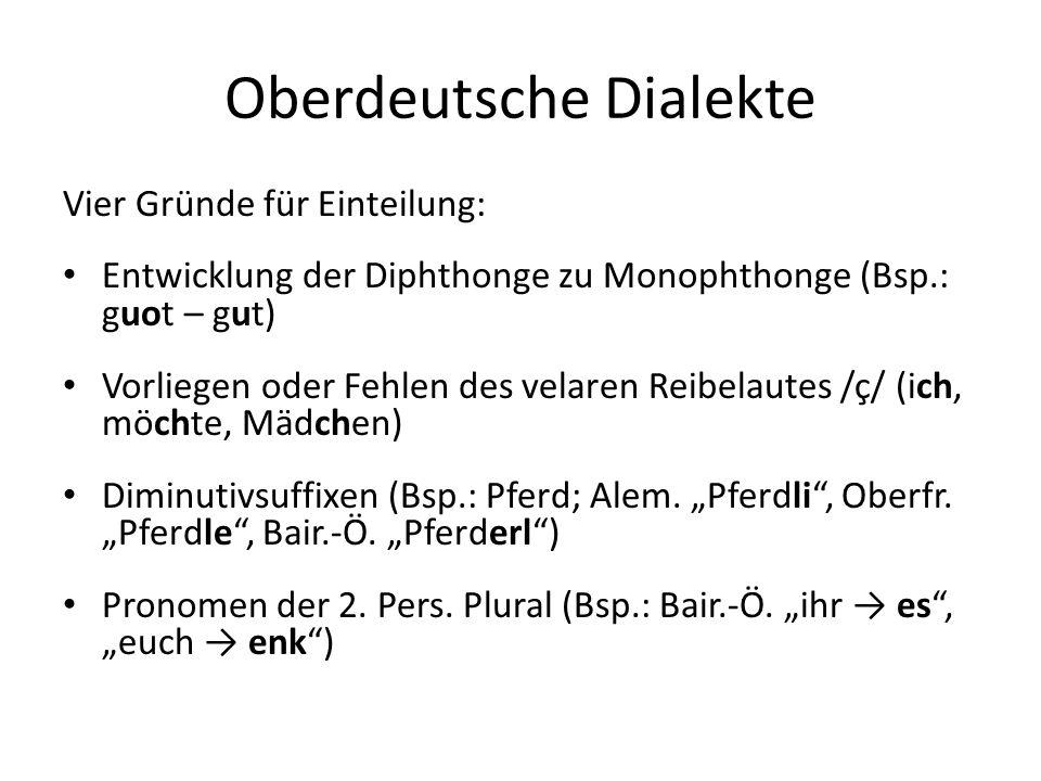 Oberdeutsche Dialekte
