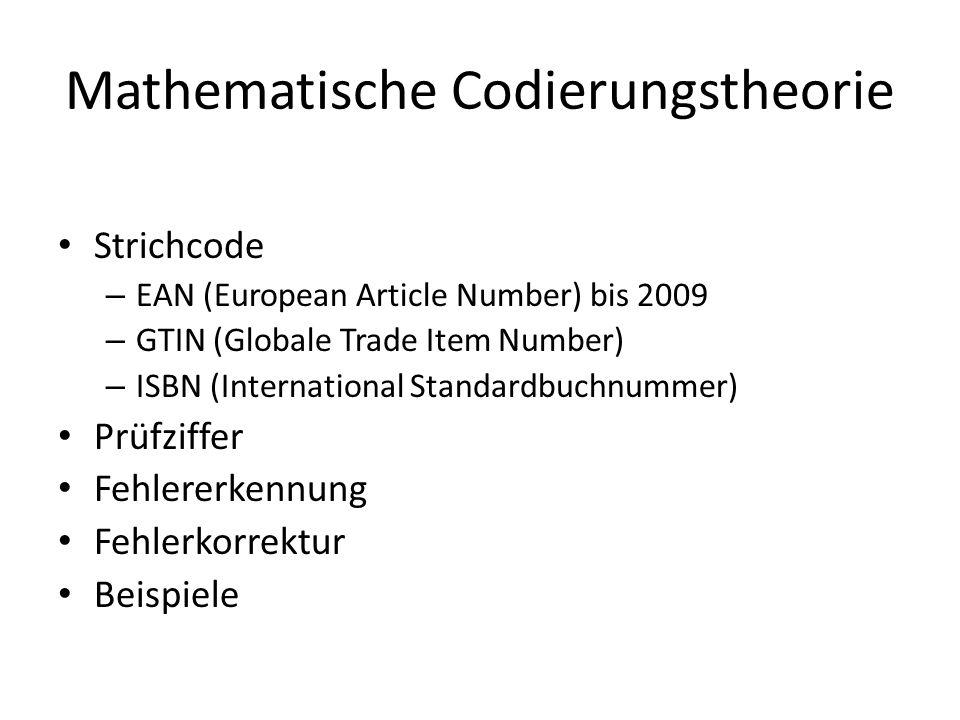 Mathematische Codierungstheorie