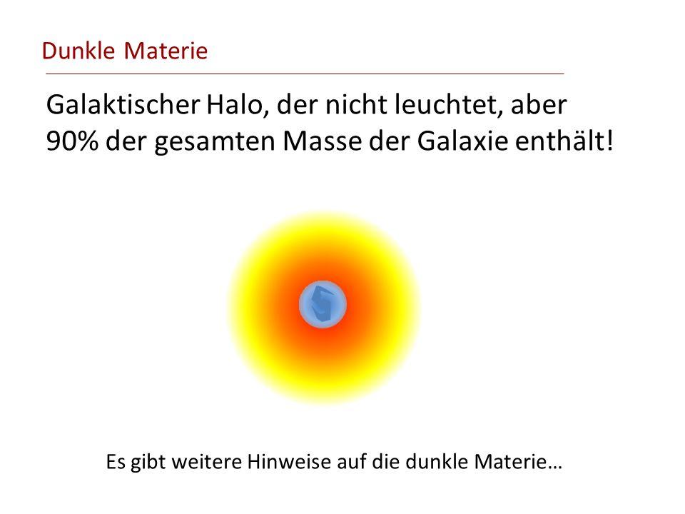 Dunkle Materie Galaktischer Halo, der nicht leuchtet, aber 90% der gesamten Masse der Galaxie enthält!