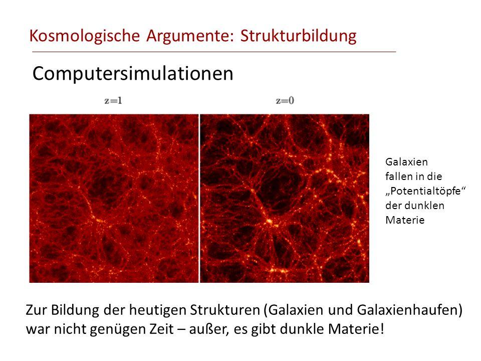 Kosmologische Argumente: Strukturbildung