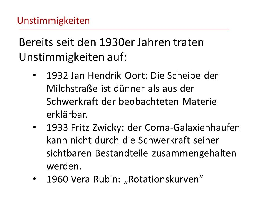 Bereits seit den 1930er Jahren traten Unstimmigkeiten auf: