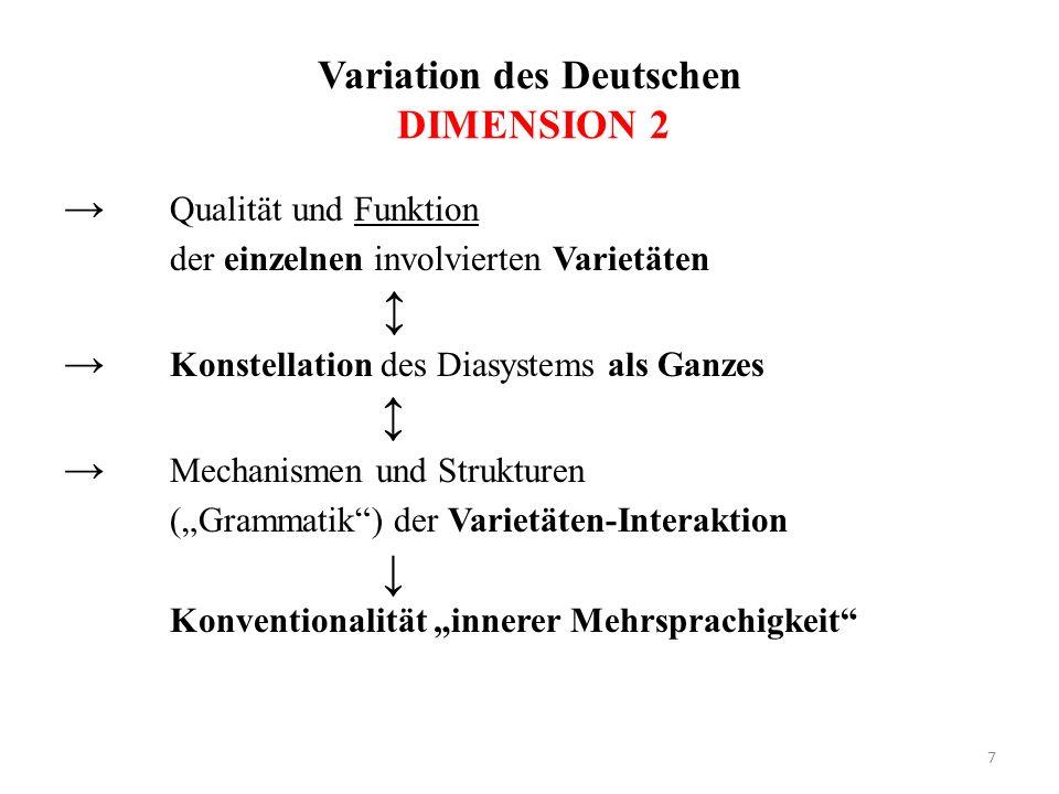 Variation des Deutschen DIMENSION 2
