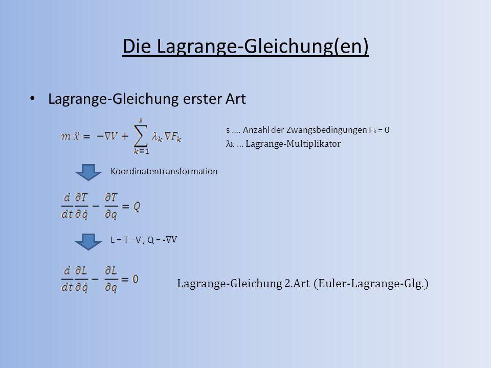 Die Lagrange-Gleichung(en)