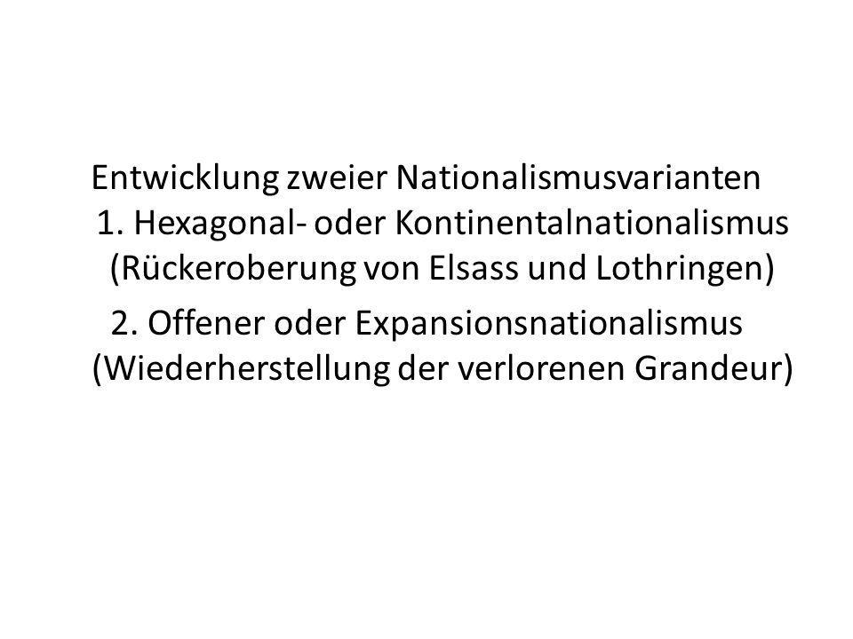 Entwicklung zweier Nationalismusvarianten 1